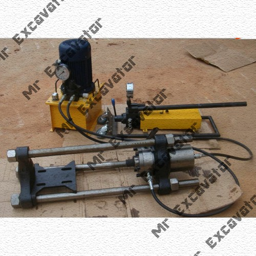 Electric & Manual Track pin press for excavator